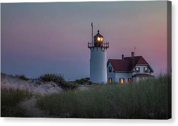 New England Lighthouse Canvas Print - Last Light by Bill Wakeley