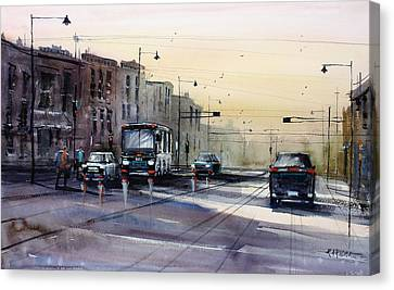 Impressionism Canvas Print - Last Light - College Ave. by Ryan Radke