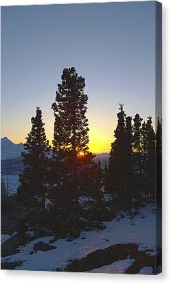 Matanuska Canvas Print - Last Light In The Mountains by Tim Grams