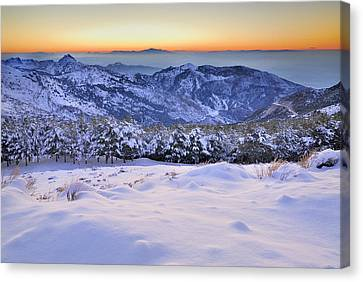 Last Light Of The Day Canvas Print by Guido Montanes Castillo