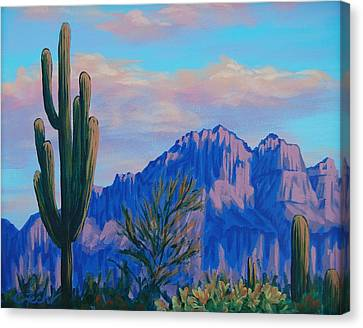 Last Light On The Superstitions Canvas Print
