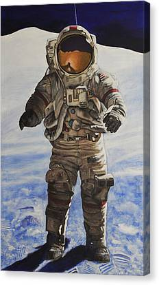 Last Man - Apollo 17 Canvas Print by Simon Kregar