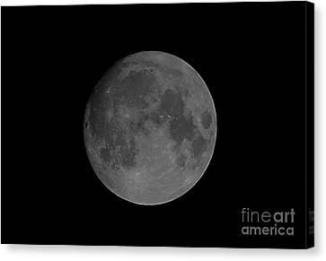 Sea Moon Full Moon Canvas Print - Last Millennium Full Moon by John Chumack