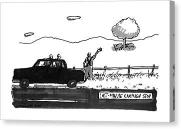 Last-minute Campaign Stop Canvas Print
