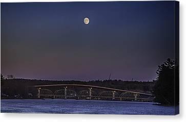 Last Moon Rise Canvas Print