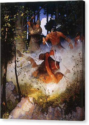Last Of The Mohicans, 1919 Canvas Print by Granger
