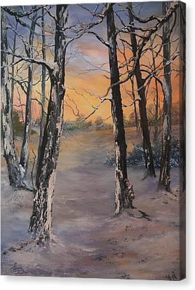 Cannock Chase Canvas Print - Last Of The Sun by Jean Walker