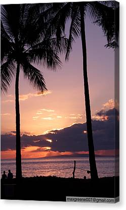 Last Of The Sun On Maui Canvas Print