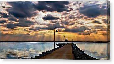 Canvas Print featuring the photograph Last Rays by Greg Jackson