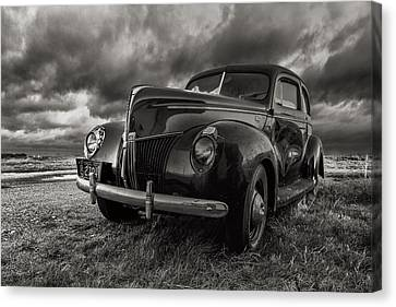 Old Fords Canvas Print - Last Ride  by Aaron J Groen