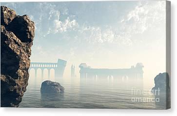 Atlantis Canvas Print - Last Ruins Of Lost Atlantis by Fairy Fantasies
