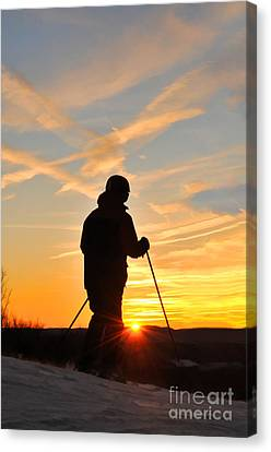 Last Run At End Of Day Canvas Print by Dan Friend