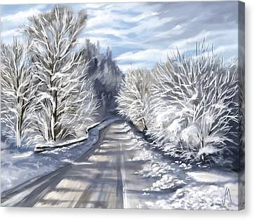 Snowscape Canvas Print - Last Snow Series N1 by Veronica Minozzi