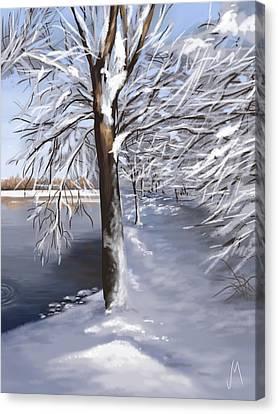 Snowscape Canvas Print - Last Snow Series N2 by Veronica Minozzi