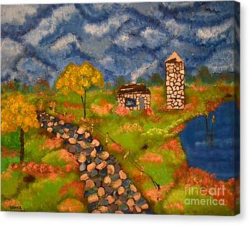 Canvas Print featuring the painting Last Spring by Denise Tomasura