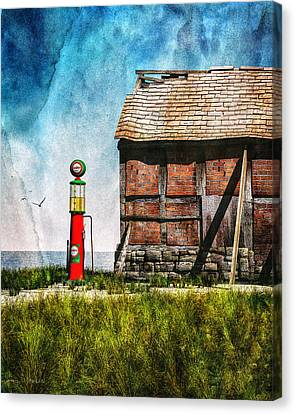 Last Stop Texaco Canvas Print by Bob Orsillo