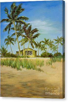 Canvas Print featuring the painting Last Sugar Shack by Vic  Mastis