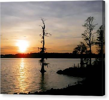 Canvas Print featuring the photograph Last Sunset Of 2012 by Victor Montgomery
