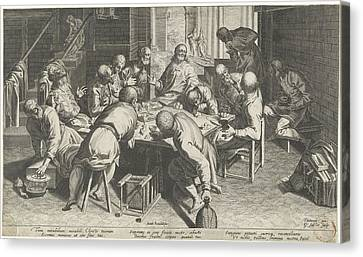 Last Supper Canvas Print - Last Supper, Aegidius Sadeler, Donato Rasciotti by Quint Lox