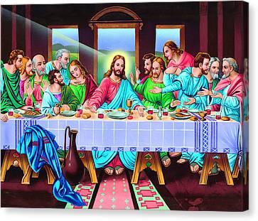 Last Supper Canvas Print - Last Supper by Patrick Hoenderkamp