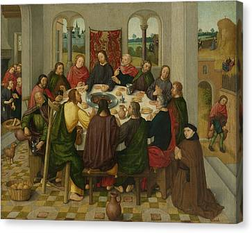 Last Supper, Circle Of Master Of The Amsterdam Death Canvas Print by Litz Collection