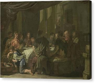 Last Supper Canvas Print - Last Supper, Gerard De Lairesse by Litz Collection
