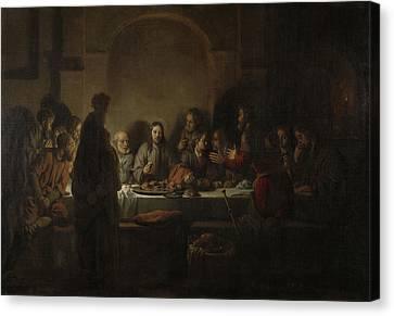 Last Supper Canvas Print - Last Supper, Gerbrand Van Den Eeckhout by Litz Collection