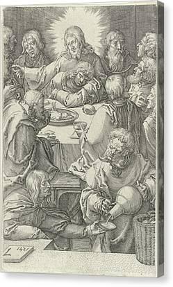 Last Supper, Jan Harmensz Canvas Print by Jan Harmensz. Muller