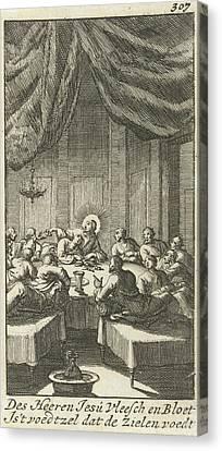 Last Supper, Jan Luyken, Jurriaen Van Poolsum Canvas Print by Jan Luyken And Jurriaen Van Poolsum