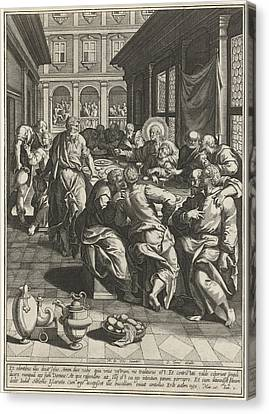 Last Supper, Johann Sadeler I, Anonymous Canvas Print by Quint Lox
