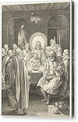 Last Supper, Nicolaes De Bruyn Canvas Print by Nicolaes De Bruyn