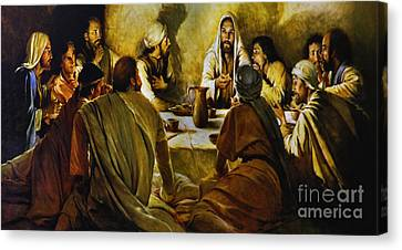 Last Supper Reproduction Canvas Print by Al Bourassa