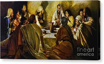 Last Supper Reproduction Canvas Print