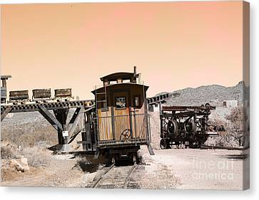 Last Train Home Canvas Print by Beverly Guilliams