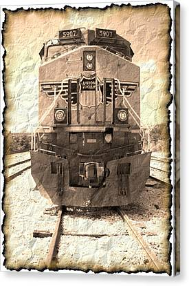 Last Train Canvas Print by Wendy J St Christopher