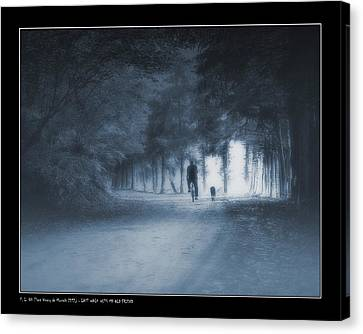 Last Walk With My Old Friend Canvas Print by Pedro L Gili