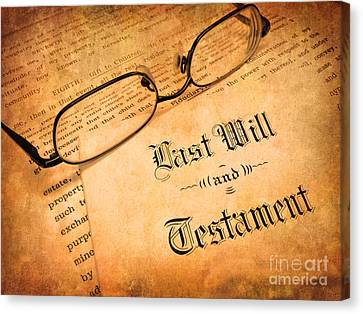 Last Will And Testament Canvas Print by Lane Erickson
