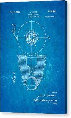 Biro Art Canvas Print - Laszlo Biro Ballpoint Pen Patent Art 1945 Blueprint by Ian Monk