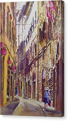 Late Afternoon In Florence Canvas Print by Jenny Armitage