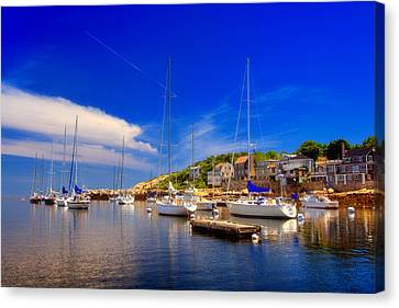 Row Boat Canvas Print - Late Afternoon In Rockport by Joann Vitali
