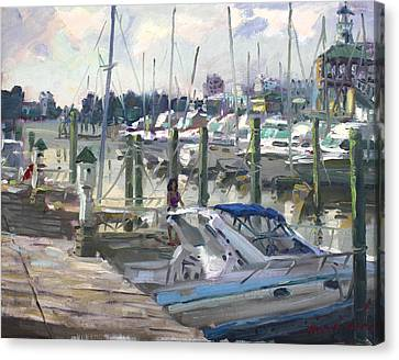 Late Afternoon In Virginia Harbor Canvas Print by Ylli Haruni