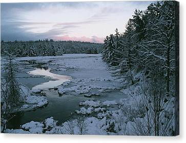 Canvas Print featuring the photograph Late Afternoon In Winter by David Porteus