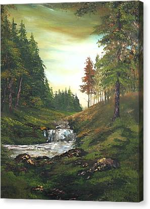 Cannock Chase Canvas Print - Late Afternoon On Cannock Chase by Jean Walker