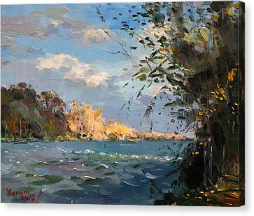 Late Afternoon On Goat Island Canvas Print by Ylli Haruni