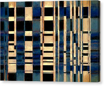 Late At The Office Canvas Print by John K Woodruff