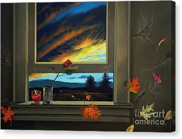 Late Autumn Breeze By Christopher Shellhammer Canvas Print by Christopher Shellhammer