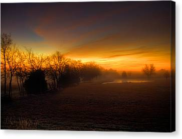 Late Autumn Sunrise Canvas Print