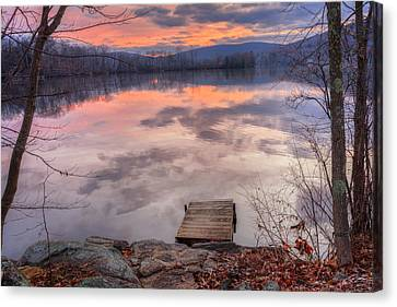 Litchfield County Canvas Print - Late Fall Early Winter by Bill Wakeley