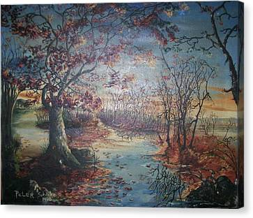 Canvas Print featuring the painting Late Fall by Peter Suhocke