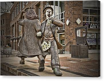 Late For Interurban  Canvas Print by Joanna Madloch